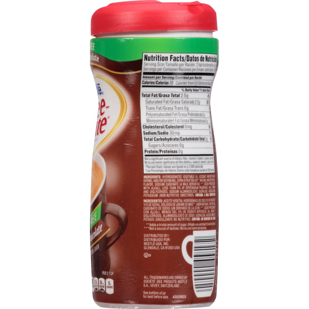 Coffee-mate Coffee Creamer Sugar Free Creamy Chocolate ...