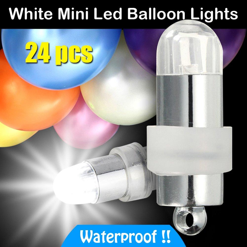 Tsleen Mini Led Light Balloon Bulbs Paper Lantern Party 3 Way Bulb Switch Dating Decors White 24cs Garden Outdoor