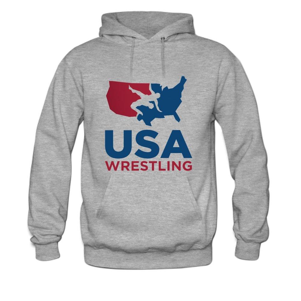 USA Wrestling Mens hoody Sweatshirt L Grey