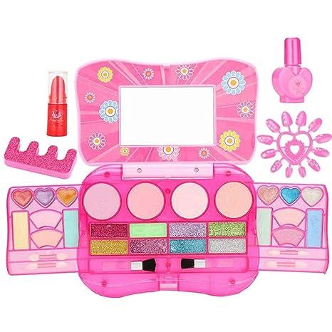 Juego de maquillaje lavable Glamour para niña con estuche de ...
