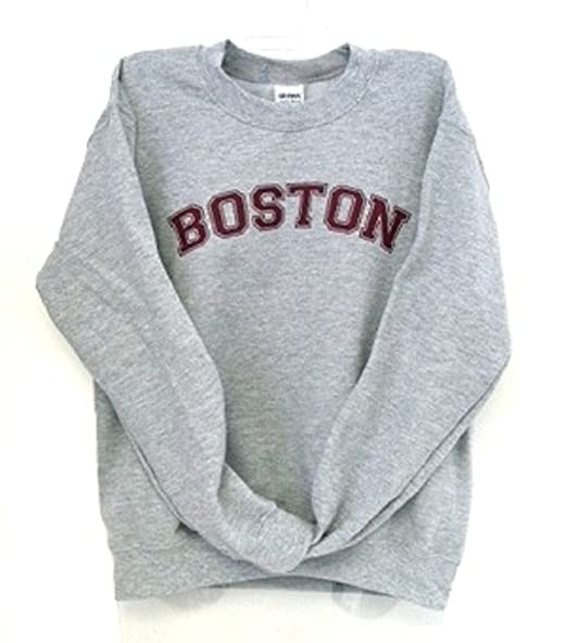 Dalliance Boxers Sport Gray Boston Sweatshirt With Maroon Imprint by Dalliance Boxers