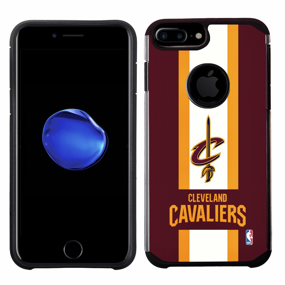 6 Plus NBA Cleveland Cavaliers 6s Plus Licensed Team Color Texture Case with Center Stripe Design for iPhone 8 Plus 7 Plus