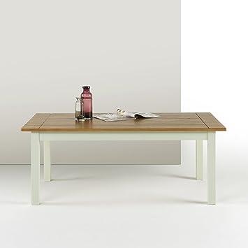 Amazon.com: zinus Farmhouse Madera mesa de centro: Kitchen ...