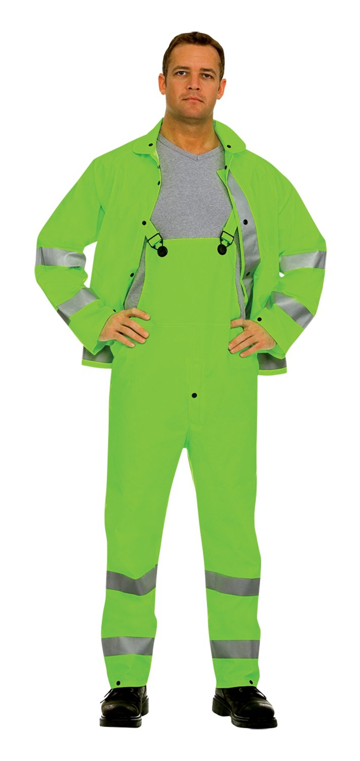 Cordova Safety Products HV353G5XL Riptide Rainsuit, 5X-Large, Hi-Vis Lime, 3-Piece