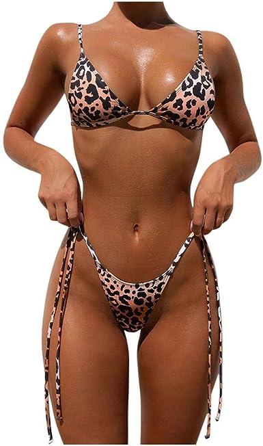 Bikinis Mujer, Dragon868 2020 Bikini Brasileño Tanga, Mujeres Bandeau Bandage Bikini Set Push-Up Traje de Baño Color Sólido Bikinis Transparentes Ropa de Playa para Verano: Amazon.es: Ropa y accesorios