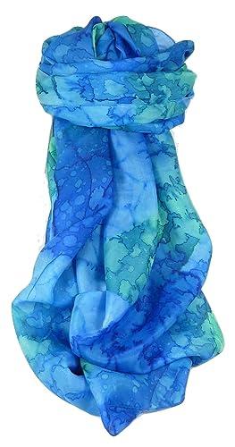 Sciarpa Classic Seta di Gelso Dipinto a Mano Blueberry da Pashmina & Silk