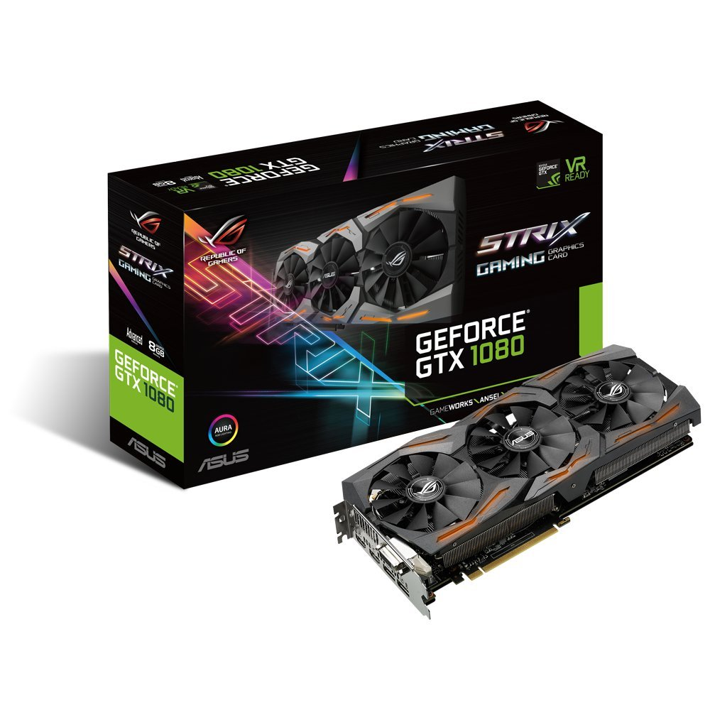 ASUS GeForce GTX 1080 8GB ROG STRIX Graphics Card (STRIX-GTX1080-A8G-GAMING) by Asus