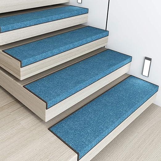 SF-ICZY - Alfombrilla Antideslizante para Escalera, autoadhesiva, para decoración del hogar (Juego de 3, 30 x 120 cm), Color Azul: Amazon.es: Hogar