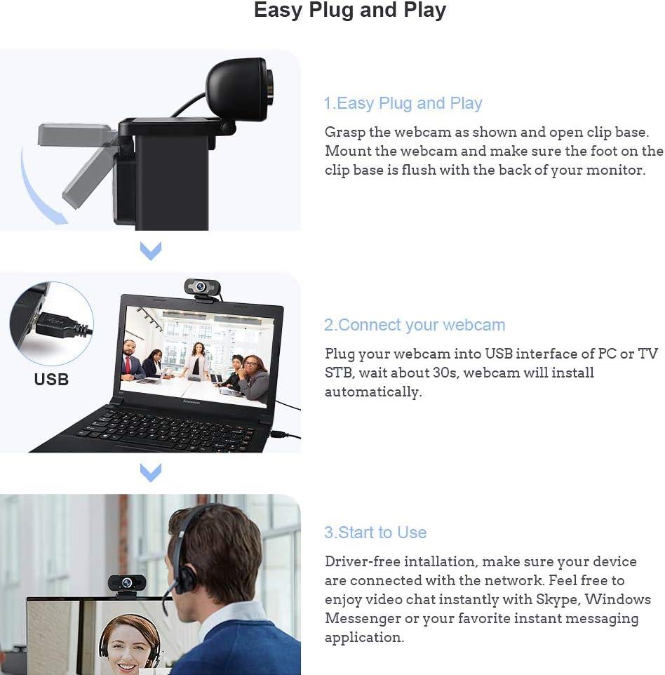 Computer & Zubehr Audio & Video Zubehr elechok Webcam mit ...