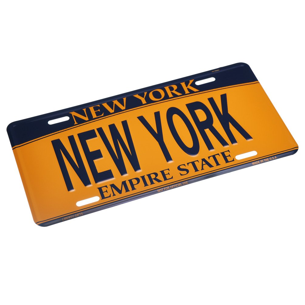 Liberty New York Empire State Car License Plate