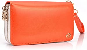 Kroo Clutch Wristlet Purse for Apple iPhone 5C - Frustration-Free Packaging - Orange
