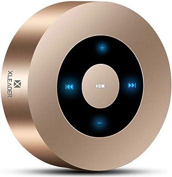 Diseño LED Tacto] Altavoz Bluetooth, XLEADER Altavoces Bluetooth Portátiles con Sonido HD/12-15 Horas de reproducción/Soporte Micro SD, para iPhone, Samsung,iPad,Tableta,Laptop,MacBook,Echo Dot (Oro): Amazon.es: Electrónica