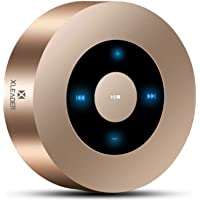 [LED Touch Design] Bluetooth Speaker, XLEADER Portable Wireless Bluetooth Speakers with HD Sound /12-Hour Playtime/Bluetooth 4.1 / Micro SD Support, for iPhone/ipad/Tablet/Laptop/Echo dot (Gold)
