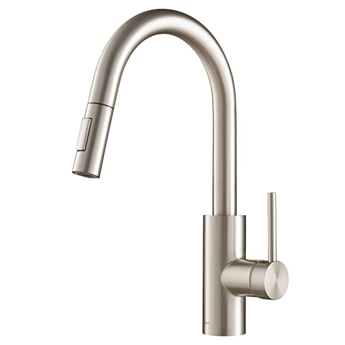 Best Pull Down Kitchen Faucet: Kraus KPF-2620SS Modern Oletto Pull-Down Kitchen Faucet