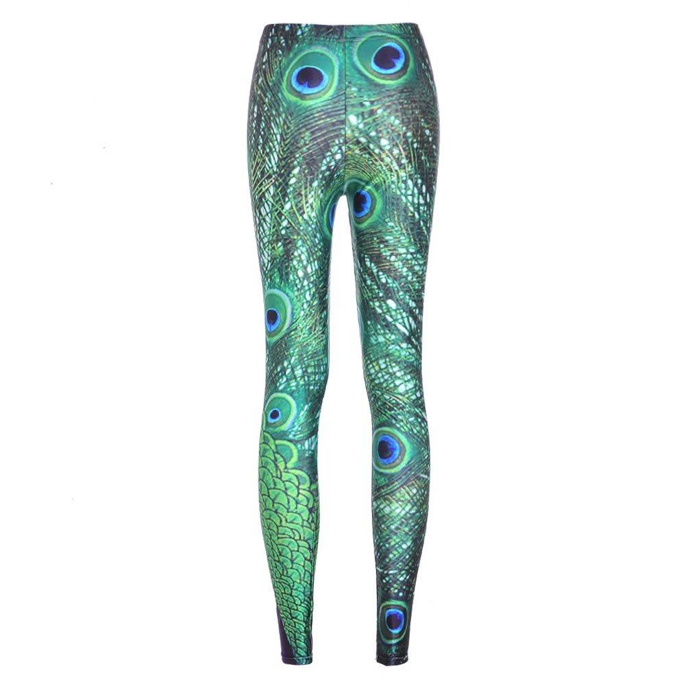 Yying Leggings de Femmes Fitness Pantalon imprim/é 3D Galaxy Pantalons de Femmes /élastique Bon
