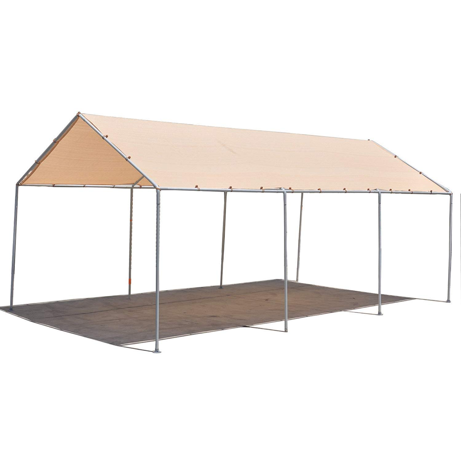 Alion Home Carport Canopy Replacement Permeable Sun Shade Cover for Low & Medium Peak(Frame Not Included) (10' x 7', Beige)