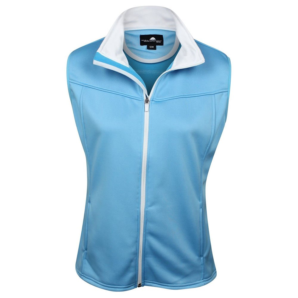 The Weather Apparel Co Poly Flex Golf Vest 2017 Women Aqua Blue/White X-Small by The Weather Apparel Co (Image #1)