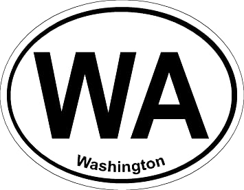 Washington Oval ; State Bumper Sticker