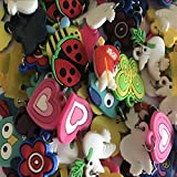 Senhui 100 Pcs Rubber Loom Band Silicone Bracelet Charms