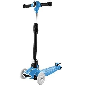 AIMADO Mini Scooter Patinetes para Niños Niñas de 3-17 Años Plegable con 3 Ruedas