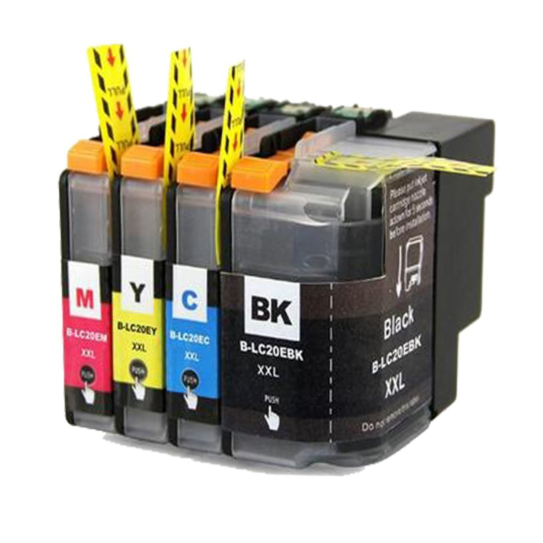Aprobu Replacement for Brother LC20E XXL Super High Yield Ink Cartridge Set(4-Pack,1 Black/1 Cyan/1 Magenta/1 Yellow) with MFC-J5920DW MFC-J985DW Pinter