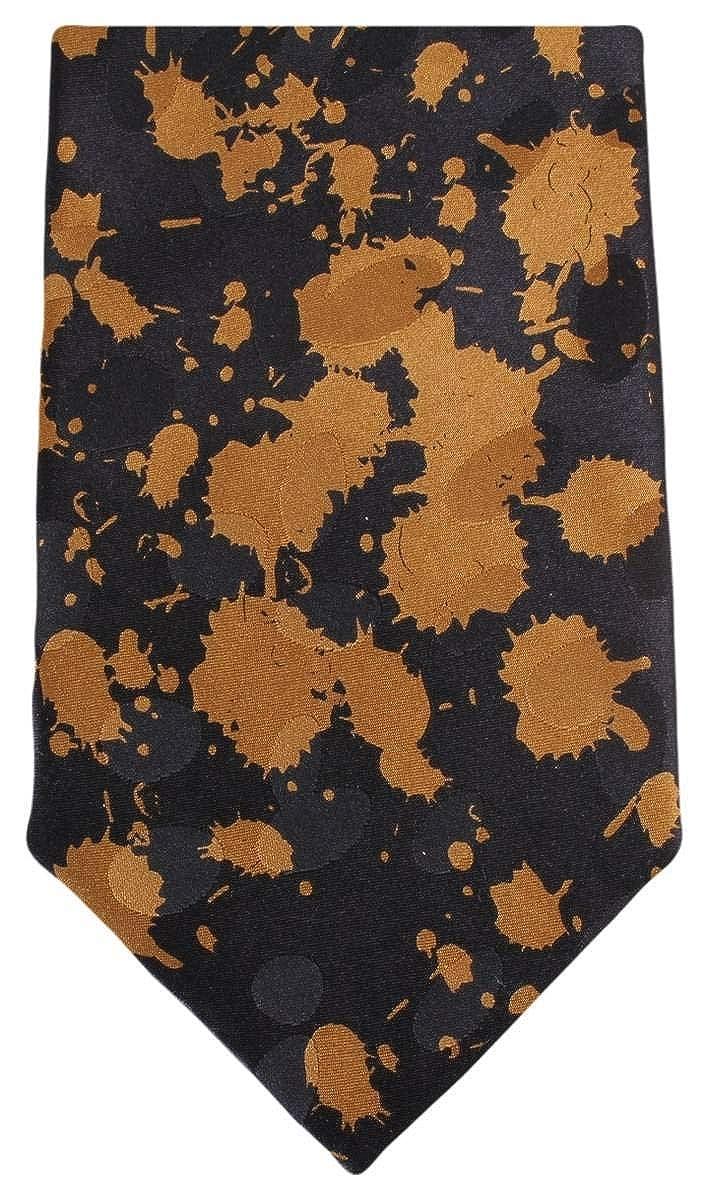Knightsbridge Neckwear Mens Paint Splash Tie Black//Brown