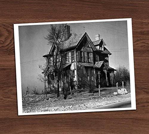 Creepy Haunted Farm House Black and White Vintage Photo Art Print 8x10 Wall Art Halloween Decor -