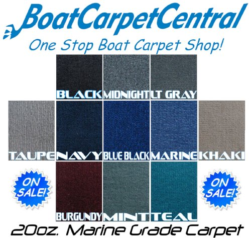 - Marine Outdoor Pontoon Boat Carpet/20oz/10colors (Black, 8-1/2'x16)