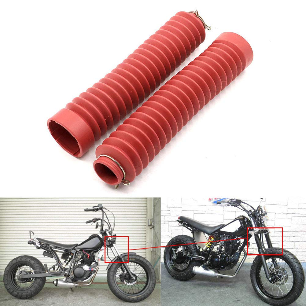 For Yamaha TW200 TW225 Front Shock Absorber Fork Shock Cover Protector Dust Guard, Black motoparty
