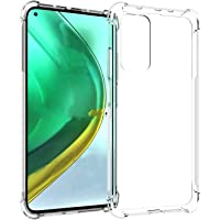 PNQK Case for Xiaomi Mi 10T 5G y Mi10T Pro Funda TPU Suave Transparente Cover con Cuatro Esquinas Espesamiento