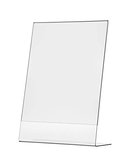 """17""""W x 11""""H Advertisement Frame Slant Back Table Sign Holder Frame Lot of 4"""