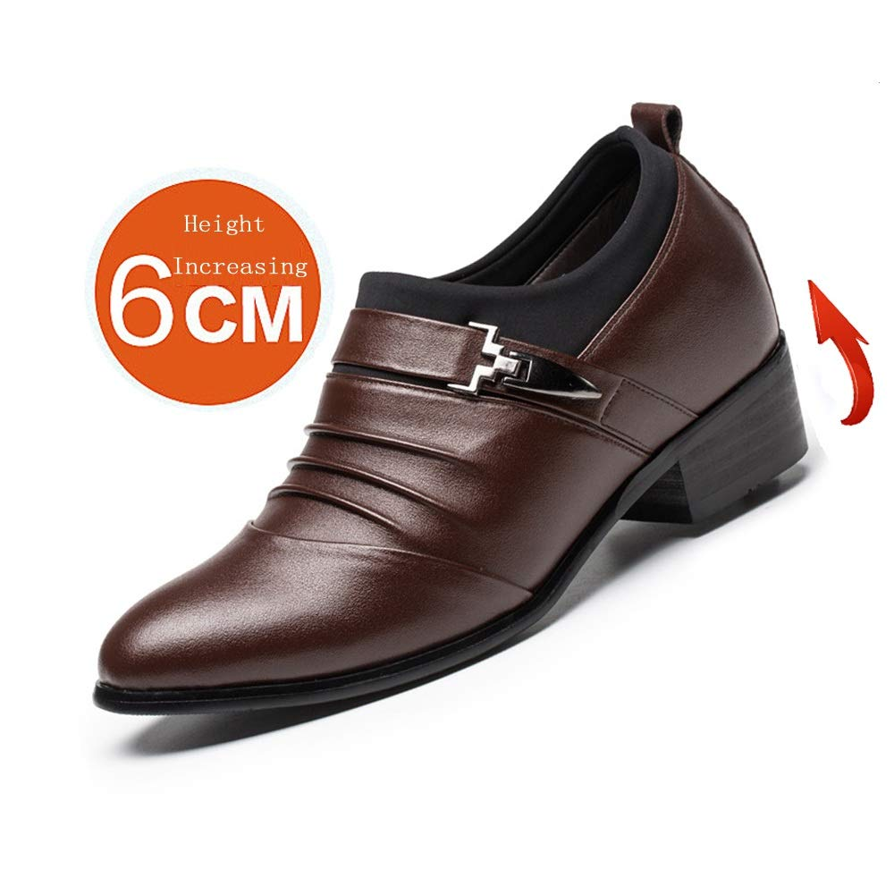 Lässige Herren leichte weiche Schuhe Oxford Echtleder Splice Splice Echtleder oberen Slip on Aufzug Schuhe 2