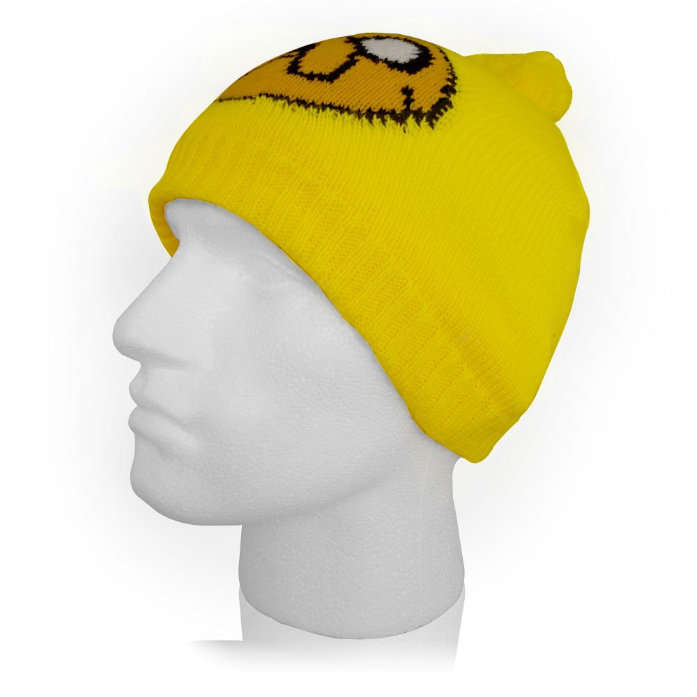 8700bcc0b35 Adventure Time Jake Bobble Beanie (Yellow)  Amazon.co.uk  Toys   Games
