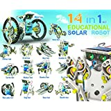 14 in 1 Educational Solar Robot DIY Kit Assembly Solar Toy Build Your Own Robot For Kids