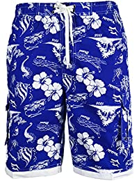 FQ Men's Assorted Floral Striped Swim Trunk