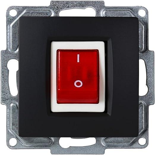 Gunsan Visage beleuchteter Ein//Aus Schalter für Durchlauferhitzer Unterputz