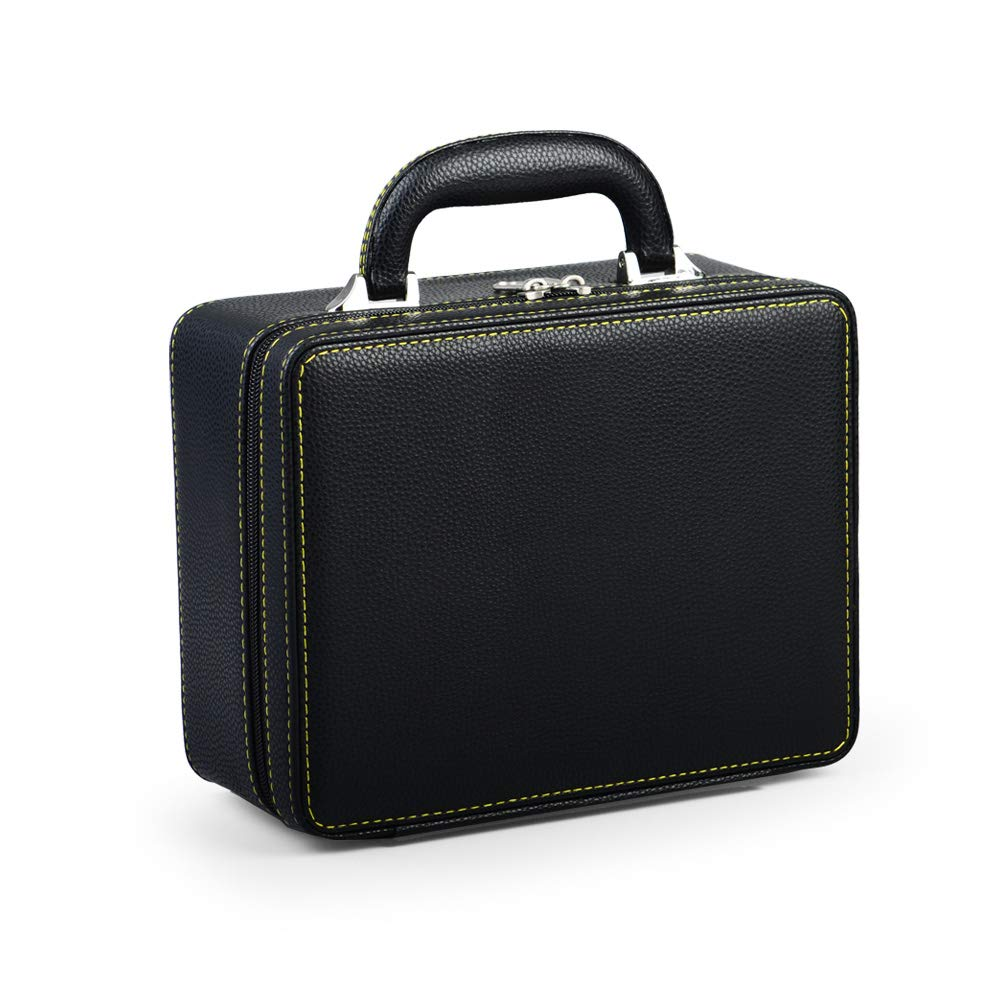 Oirlv Black Leather Travel Jewelry Box Jewelry Storage Case by Oirlv