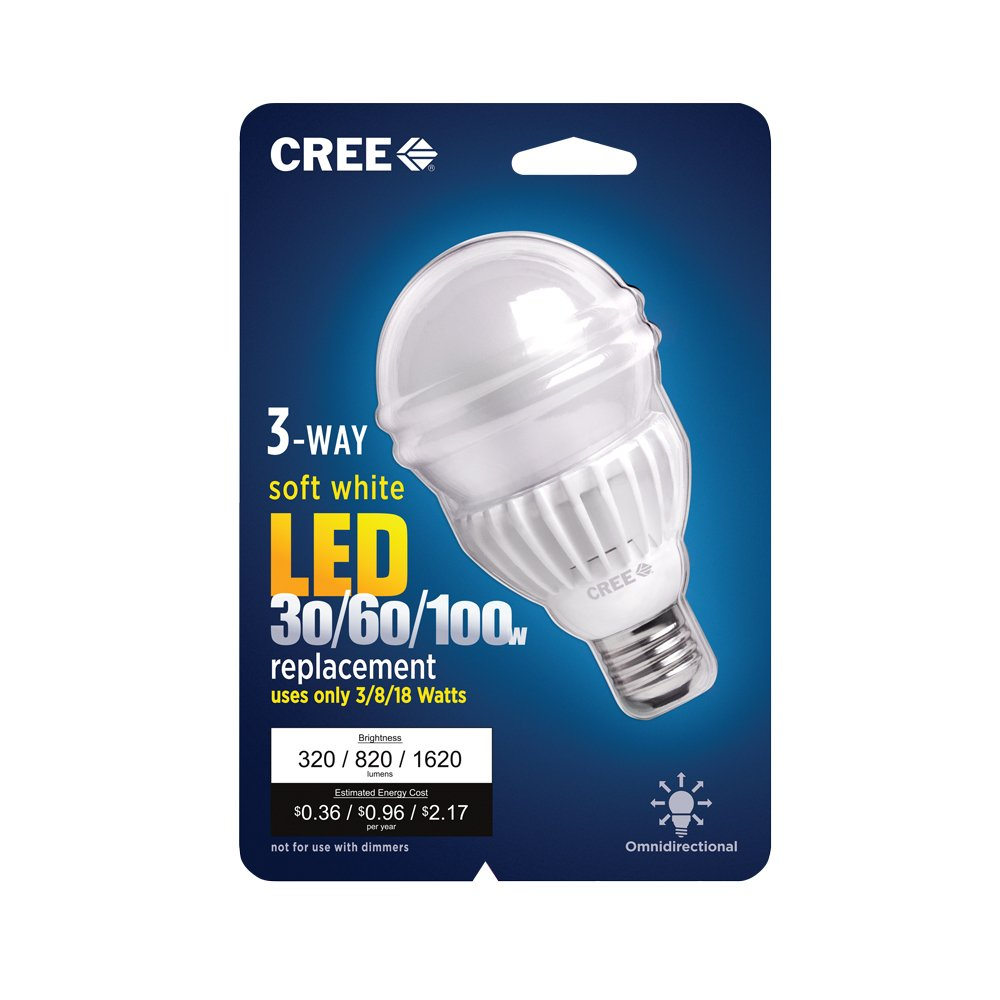 Cree 30 60 100w Equivalent Soft White 2700k A21 3 Way Led Light Switch Fluorescent Bulb