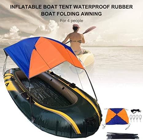 Anti-UV 4 Person Inflatable Boat Awning Cover Fishing Tent Sun Shade Canopy