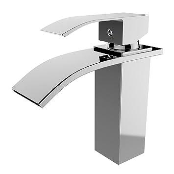 Homdox Kitchen Single Handle Faucet Waterfall Bathroom Sink Basin ...