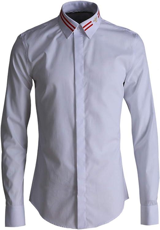 HOSD Nueva Camisa de Hombre con Bordado de Camisa de Abeja ...