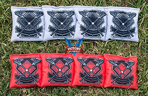 Victory Tailgate Custom Lacrosse Cornhole Bag Set (all Weather) by Victory Tailgate