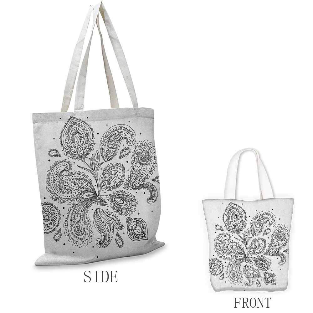 Work package Henna Fantasy Spring Blossoms Abstract Display Traditional Borders Collection Monochrome Coin cash wallet 16.5x14x6.3 Black White