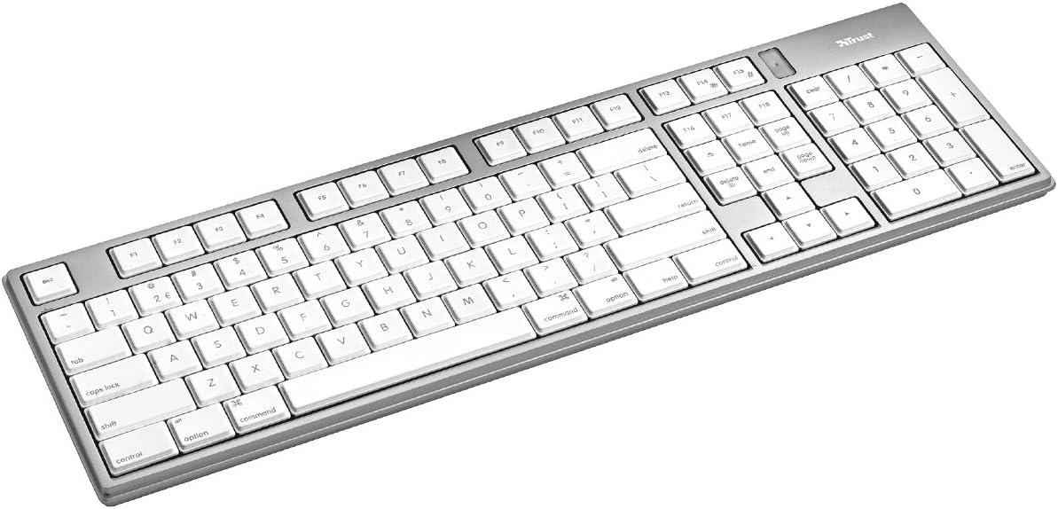 Trust Slimline Aluminium Tastatur Für Mac Schnurlos Computer Zubehör