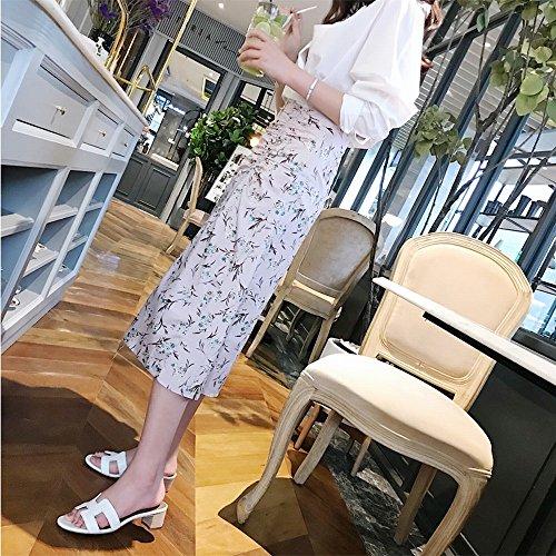 Blanco Grueso Zapatos una de H Fresca con Zapatillas 38 Chic con DHG Playa Sandalia Reales ORdFBqqw