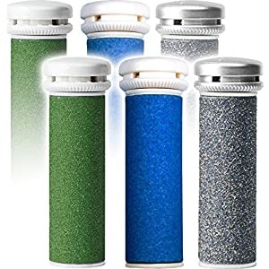 Emjoi Micro-Pedi Refill Rollers - (Extra, Super & Xtreme Coarse) - Pack of 6