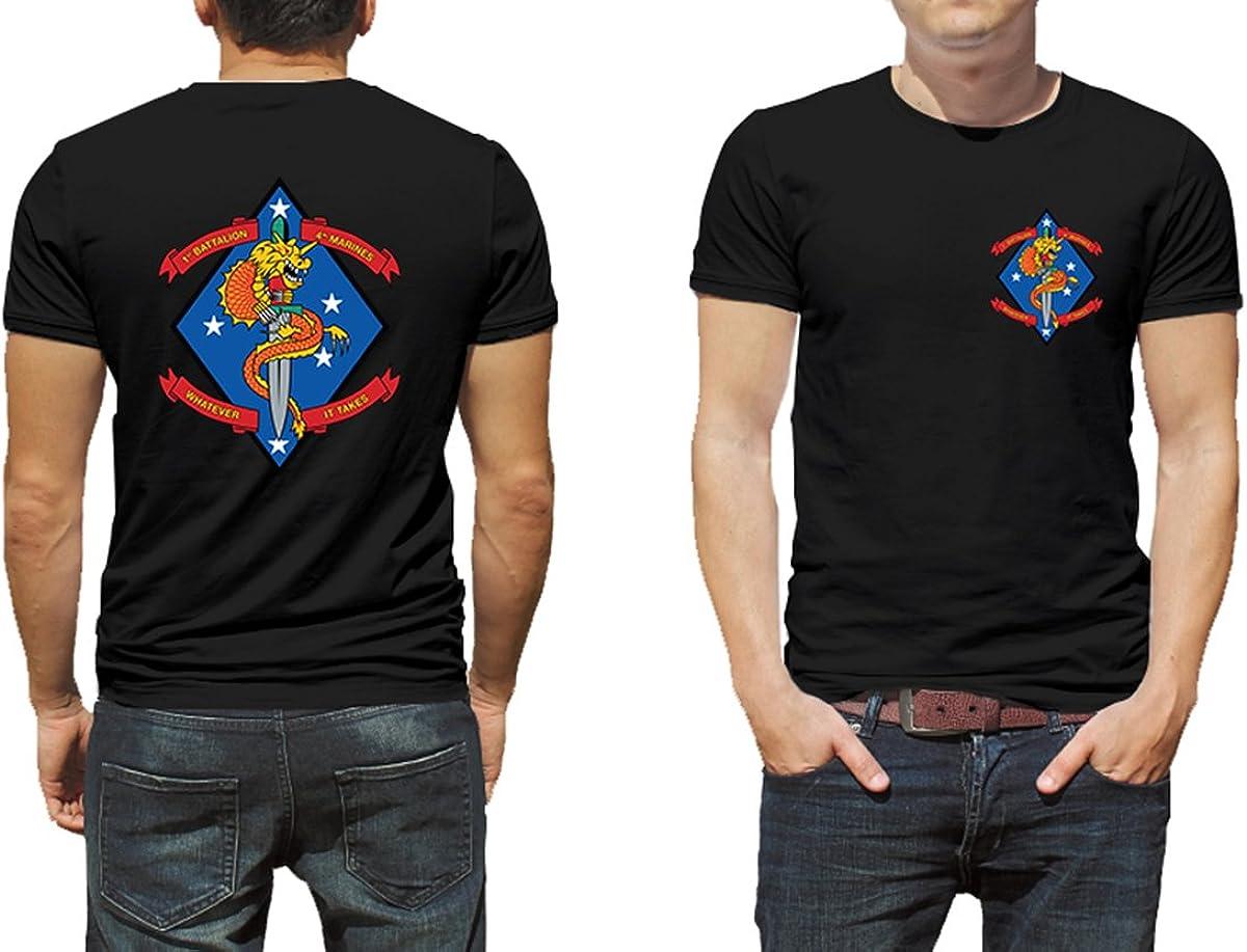 Trooperbay 1st Battalion 4th Marines USMC Marine Corp WWII Black or White Short Sleeve Shirt