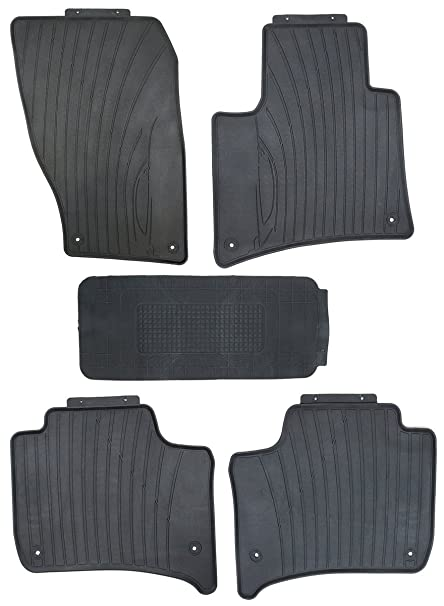 TMB Motorsports Black Rubber All Weather Floor Mats for 2011-2018 Porsche Cayenne