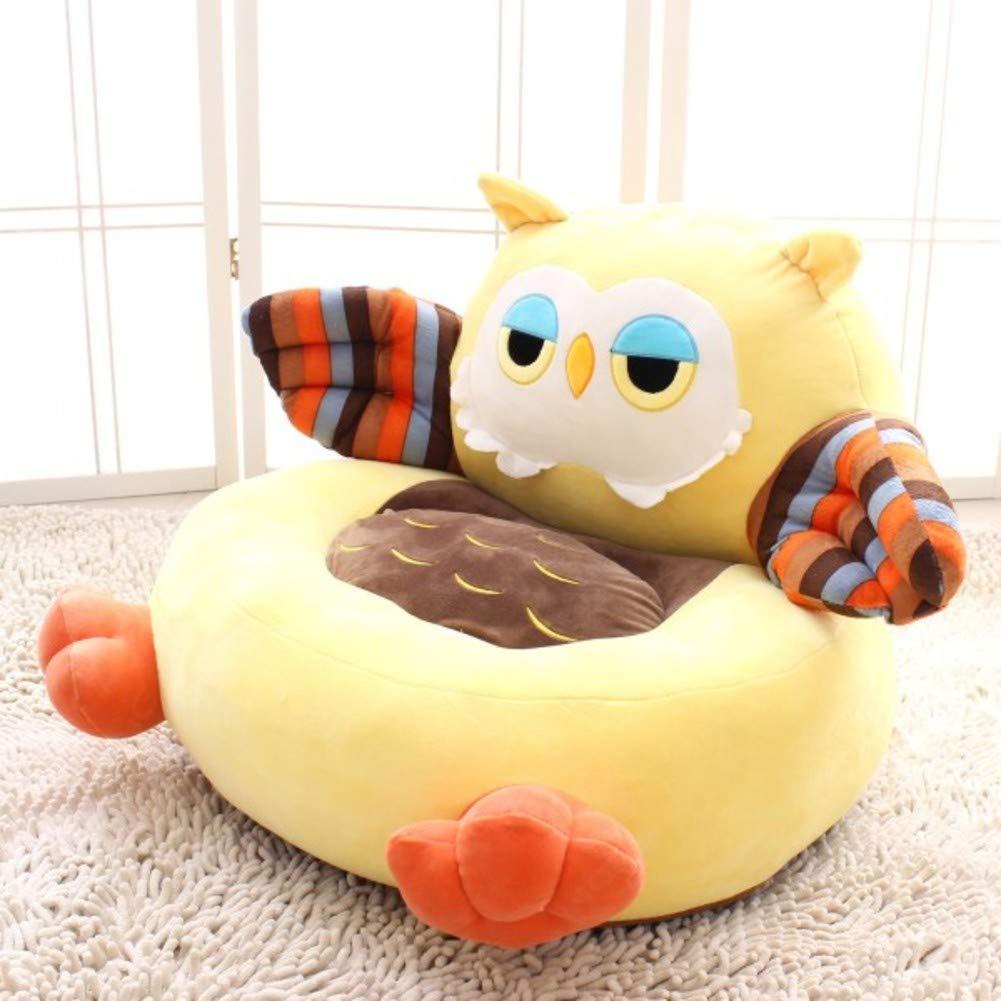 WAYERTY Children Sofa, Kid Chair Cute Cartoon Animal Plush Toy Seat Tatami Couch Birthday Present-Yellow A 55x50x45cm(22x20x18inch)