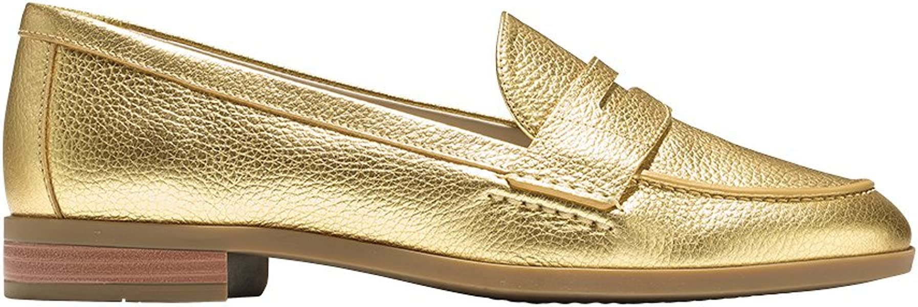 57922cb8f704 Cole Haan Women s Pinch Grand Penny Loafer 7.5 Gold Metallic Shoes Fall